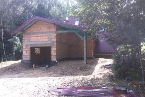 Wybudowanie garażu z kotłownią w Kamionnej