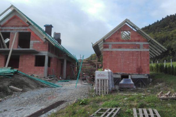 Budowa domu od podstaw + pomieszczenie gospodarcze w Pisarzowej